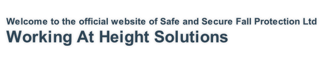 Welcome to the official website of Safe and Secure Fall Protection Ltd